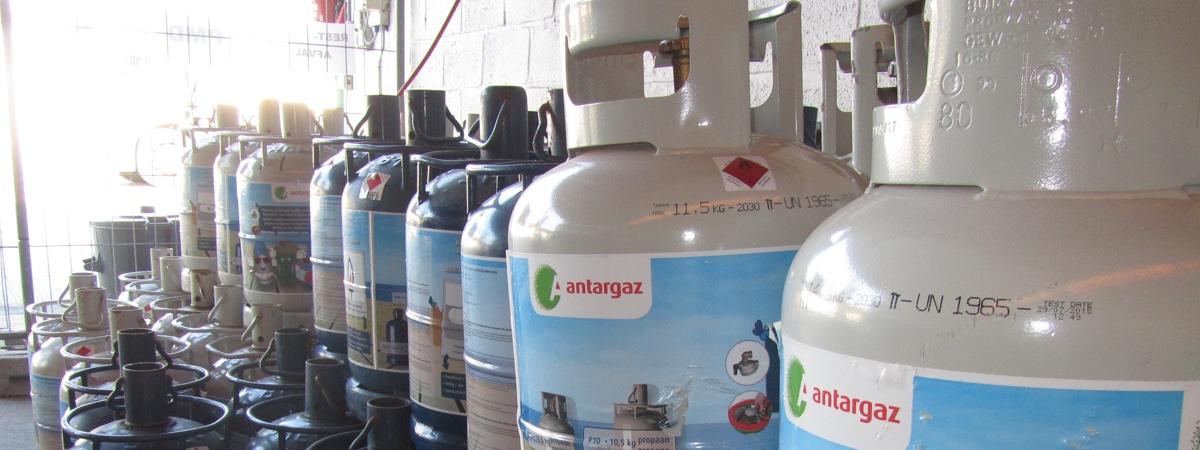 Gasflessen van Antargaz en Primagaz te verkrijgen
